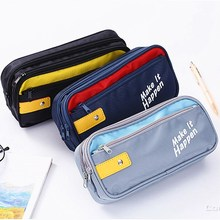 лучшая цена Super Pencil Case Large Capacity Pencil case School Pen Case Supplies Pencil Bag School Box Pencils Pouch Stationery