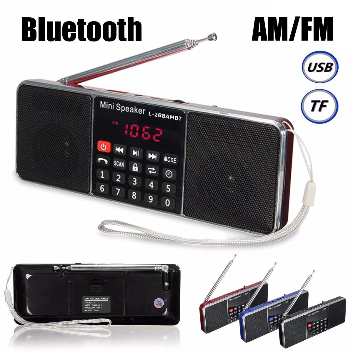bluetooth Portable LCD FM//AM Radio Stereo Speaker MP3 Music Player Micro SD