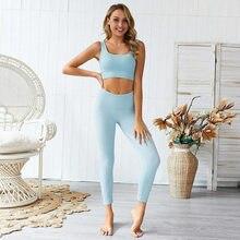 2 pontos/conjunto desnecessário fitness yoga pak alta elastic workout esporte conjunto acolchoado sportbra cintura alta esporte legging ginásio