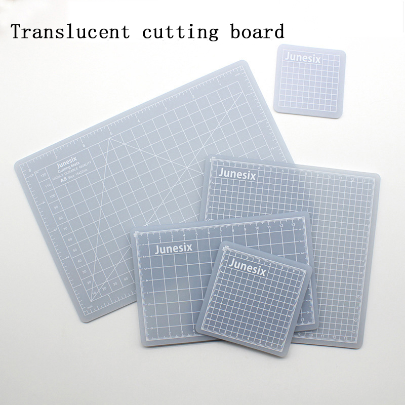 Multi-size Translucent Pvc Mat Patchwork Rubber Cutting Mat Carving Art Manual Double-sided Tool Self-healing Cutting Board