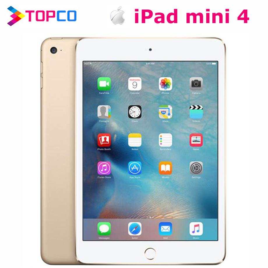 "Apple iPad mini 4 Factory Unlocked Original Tablet 4G version&WIFI version 7.9"" Dual core A8 8MP RAM 2GB ROM 128GB Fingerprint