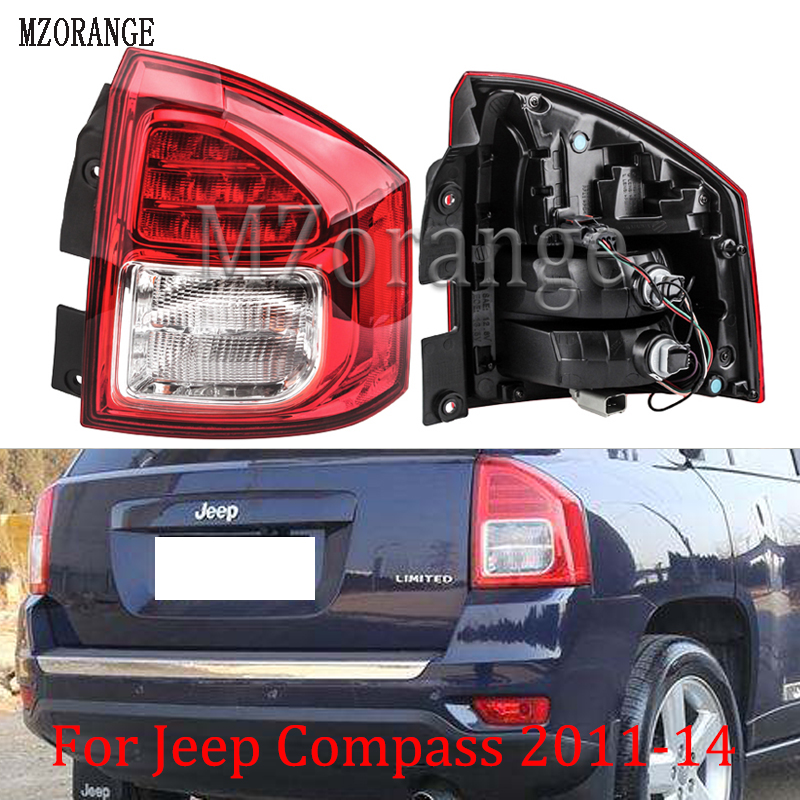 MZORANGE Replacement Parts For Jeep Compass 2011-14 External Rear Left Right Taillights Turn Signal Brake Lights Lamps Assembly