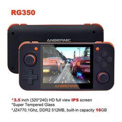 المحمولة دائم وحدة تحكم بجهاز لعب محمول RG350 الرجعية لعبة وحدة التحكم الحرة مع 32 جرام TF بطاقة IPS شاشة لعبة فيديو وحدة التحكم الملحقات