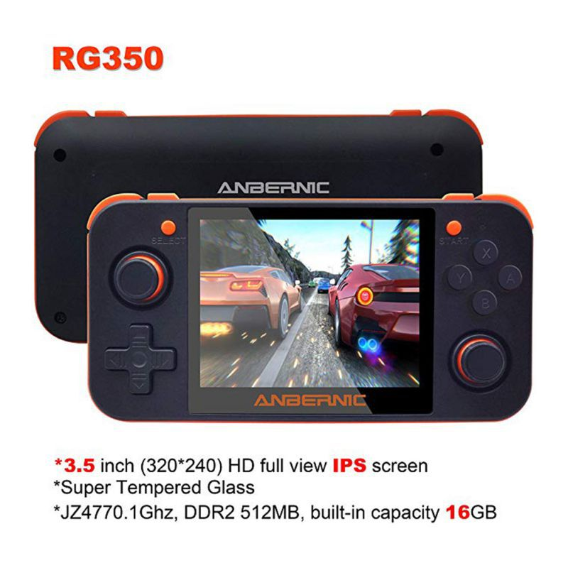 Game-Console Console-Accessories Tf-Card Video-Game Ips-Screen Retro Handheld RG350 Durable title=