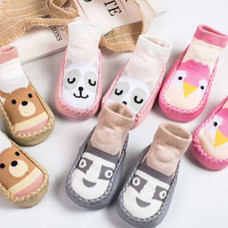Baby Socks Shoes Baby Boys Girls Toddlers Soft Sole Non-Skid Indoor Shoes Socks Slippers Sx1