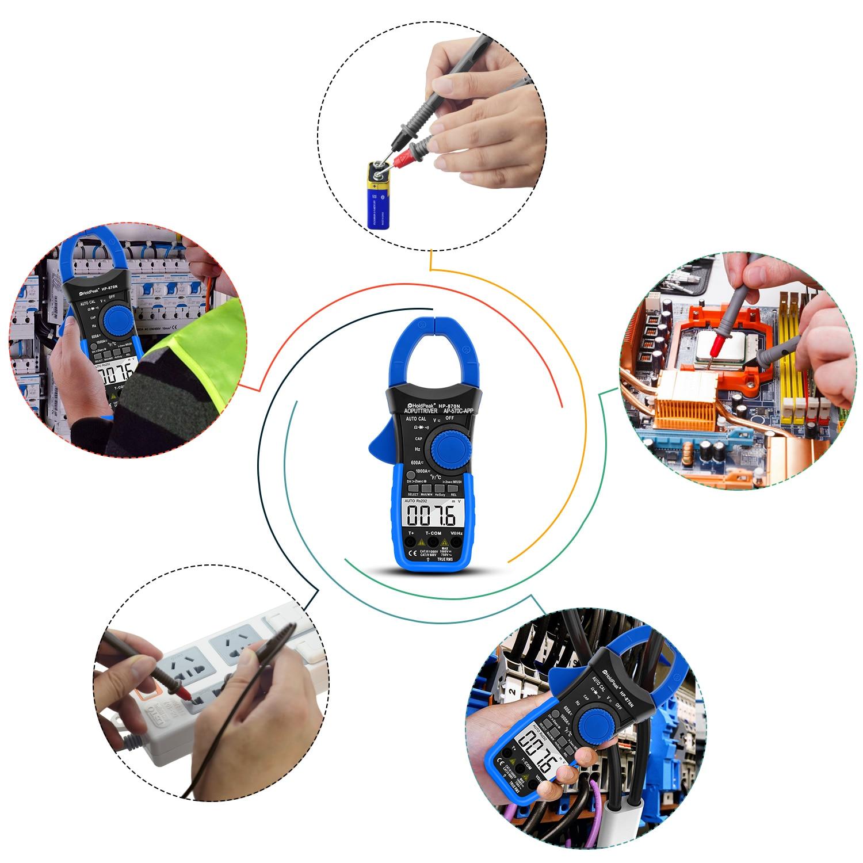 HoldPeak HP-870N Auto Range Multimetro Digital Clamp Meter Multimetro - Strumenti di misura - Fotografia 5