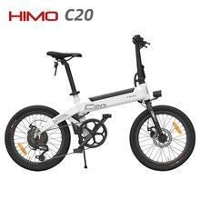 20 Inch Band 100% Originele Himo C20 Elektrische Fiets Ebike 25 Km/h E Bike 80Km Kilometerstand Outdoor Elektrische Fiets voor Xiaomi Fiets