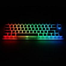 Womier V66 Oreo sıcak değiştirilebilir anahtar özel mekanik klavye rgb smd led tipi c usb portu akrilik kılıf rgb puding klavye tuş takımı