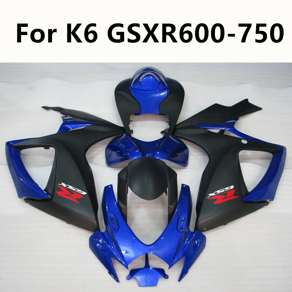 Motorcycle For Suzuki K6 <font><b>GSXR</b></font> <font><b>600</b></font> 750 2006 <font><b>2007</b></font> Full <font><b>Fairing</b></font> Kits Kit ABS Injection Molding Bodywork Kit Customize image