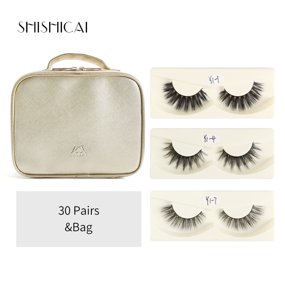 <font><b>30</b></font> <font><b>pairs</b></font> <font><b>Eyelashes</b></font> Natural long 3D Faux Mink <font><b>Eyelashes</b></font> Thick HandMade Full Strip Lashes Cruelty Free Soft False <font><b>Eyelashes</b></font> image