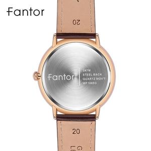 Image 3 - Fantor新ブランドビジネスメンズ腕時計高級ファッションドレスクォーツ腕時計メンズレザーストラップ防水レロジオmasculino
