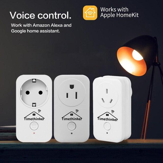 Timethinker Smart Home Wifi Socket Smart Outlet Voor Apple Homekit Siri Alexa Google Home Afstandsbediening Eu Vs Au Uk stekkers 3 Pcs
