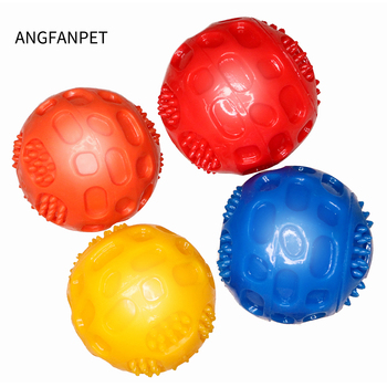 Pet Dog Toys Squeaky Extra-tough Rubber Ball Toy Interactive Elasticity Ball Dog Chew Toys For Dog Tooth Cleaning Treat Ball pet dogs rubber rod feed toy dog chew toy for dog tooth clean rod of extra tough rubber puppy toy biting resistance pet supplies