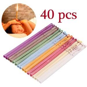 Image 1 - 40 Chiếc Coning Beewax Tự Nhiên Tai Nến Tai Candling Trị Liệu Thẳng Phong Cách Tai Chăm Sóc Nhiệt Auricular Trị Liệu Nâng Cơ Mặt dụng Cụ