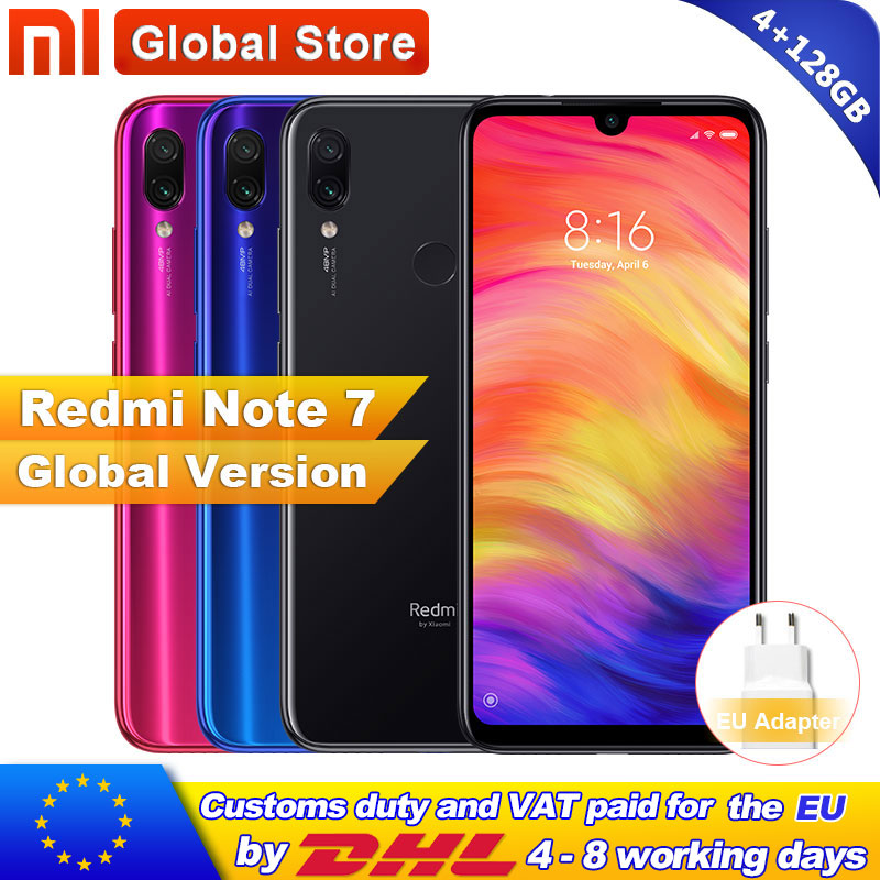 Global Version Xiaomi Redmi Note 7 4GB 128GB Smartphone S660 Octa Core 4000mAh 6.3