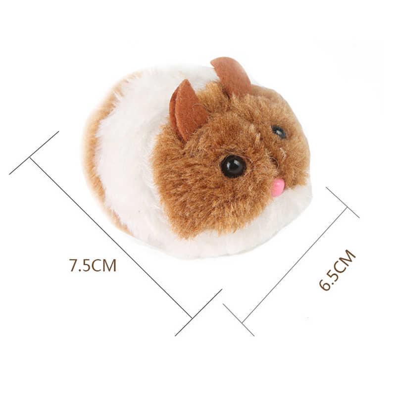 Snailhouse słodki kociak zabawki pluszowe futro zabawka wstrząsnąć ruch mysz kociak zabawny szczur bezpieczeństwo pluszowa mała mysz interaktywna zabawka prezent