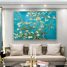 Van Gogh Almond Blossom Flowers Canvas Art Paintings On The Wall Posters And Prints Impressionist Canvas Prints For Living Room prints
