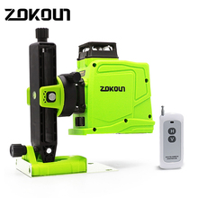 ZOKOUN 12 Lines 3d Self-leveling Green lines laser level accurate Horizontal And Vertical Cross Professional construction tools