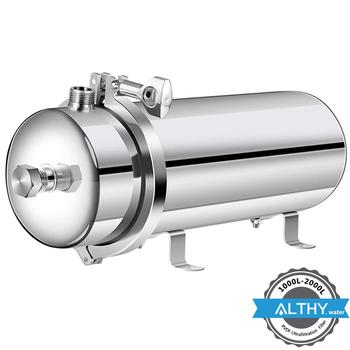 10 inch integrated hollow fiber ultrafiltration membrane water filter quick change uf filter element integrated filter core ALTHY 304 Stainless Steel Water Filter PVDF Ultrafiltration Water Purifier 1000L/2000L,Commercial Home Kitchen Direct Drink UF