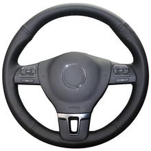Черный кожаный чехол для Volkswagen GOLF VW Tiguan Passat B7 Passat CC Touran Jetta Mk6