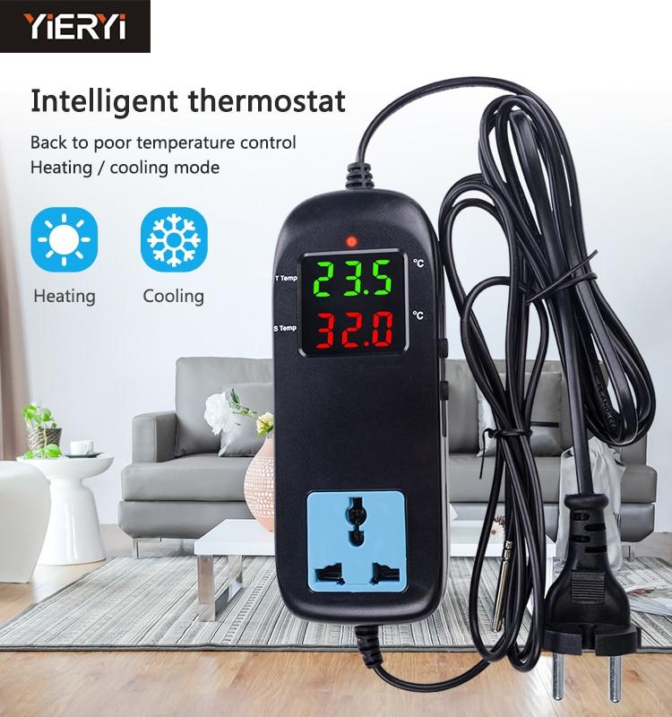 Yieryi MH-2000 AC90V ~ 250 V Qualität Elektronische Thermostat LED Digital Zucht Temperatur Controller Mit Buchse