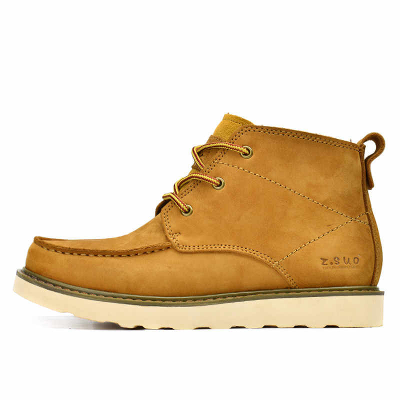 Brand big size 38-45 genuine leather men boots high top brand tooling leather shoes men botas hombre western boots men