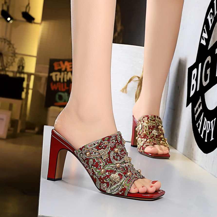 Retro Chunky High Heel Women Shoes