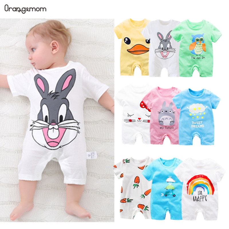 Summer 2020 Baby Bodysuits 0-24M Short Home Wear Body Babies Newborn Baby Girl Boy Clothes Cotton Infant Bodysuit Anime Costume