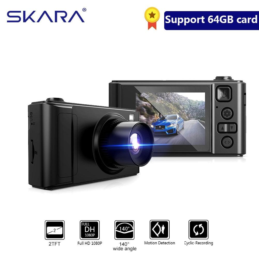 SKARA Auto Dvr 2,0 Zoll mini Dash Cam Full HD 1080P Auto Kamera Video Kanzler Dual Objektiv Recorder Video automotive Dvr