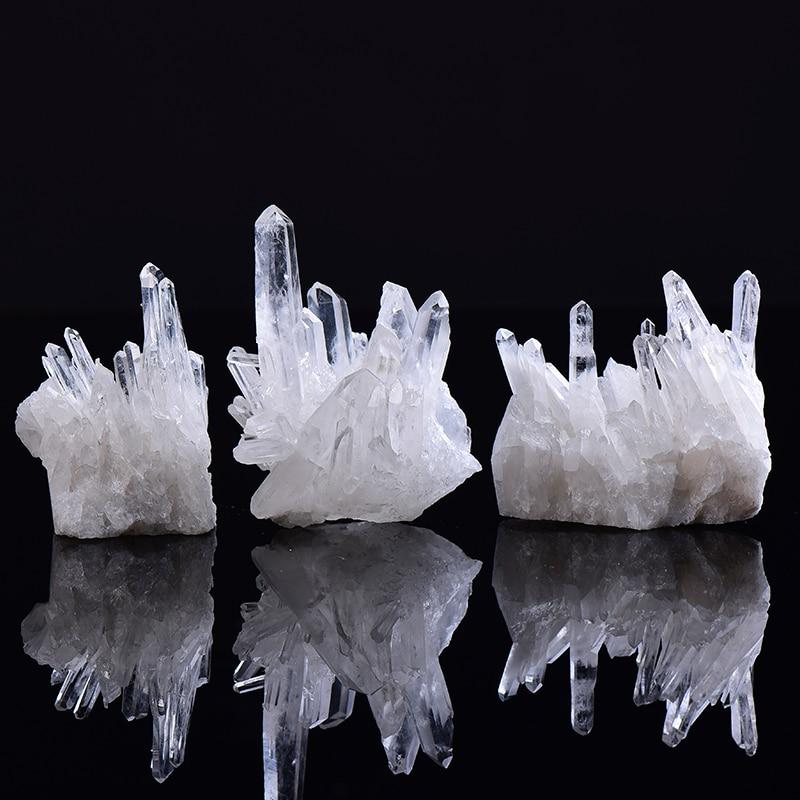 1 шт. натуральный белого цвета с украшением в виде кристаллов кварц кластера с украшением в виде кристаллов здоровье исцеления камни для рей...