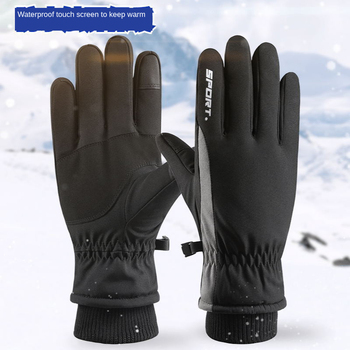 Winter Outdoor Cycling Sports Ski Warm Gloves Mens Touch Screen Non-Slip Windproof Waterproof