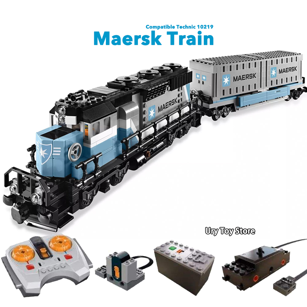 Expert Ultimate Maersk Train & Power Function Motor Set With Figures Building Blocks Toys Gift Compatible Technic Series Trains