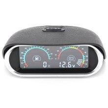 Oil Fuel Gauge Meter + Voltage Voltmeter 2 Funtions 12v Truck Auto Universal Digital Temperature for Car