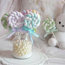 1pcs Simulating cotton lollipops Cake shop window set up prop photography background Fake candy Simulated lollipop