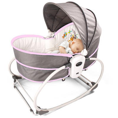H2ad7cde04b82425d84a9a1e2774a2d20Q Baby Furniture Cradle 5 in 1 baby rocking bed Baby Cradle rocking chair baby recliner portable baby basket baby crib babynest