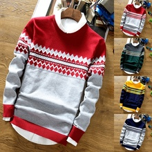 2020 New Casual Sweater Men Slim Fit Knitted Mens Sweaters L