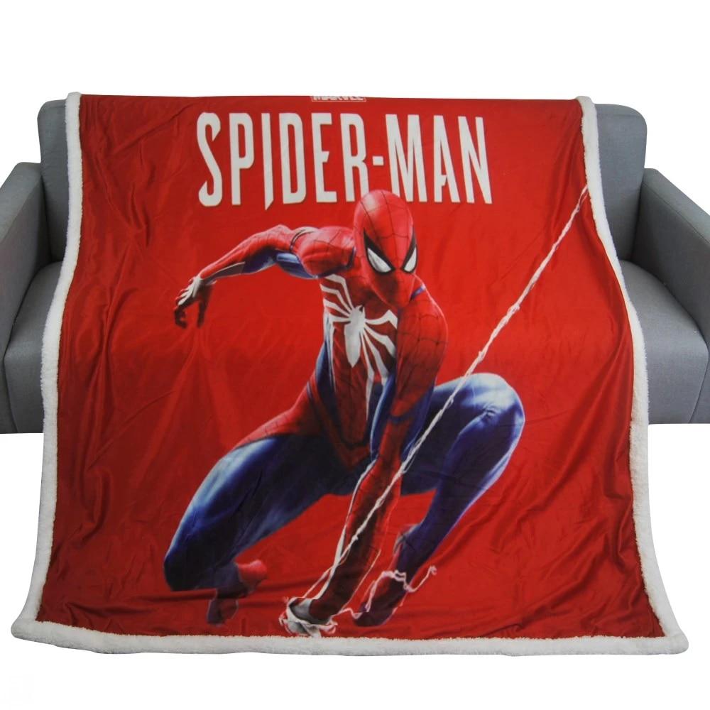 disney spiderman blanket cartoon sherpa fleece blankets throws on bed crib couch 150x200cm baby girls boys kids gift