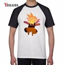 3D Print T Shirts Sky Galaxy Goku Son Dragon Ball Z Graphic Tees Mens Casual Anime T-Shirt Unisex Cartoons Tops