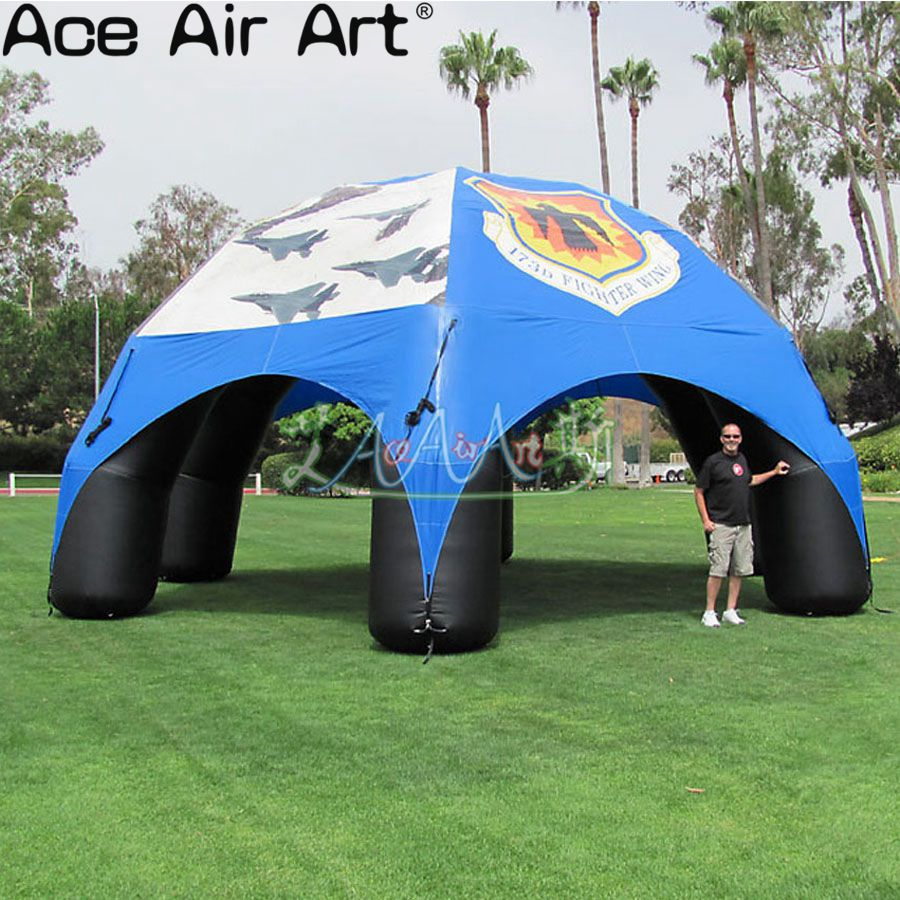 Free-shipping-directly-directly-supply-8m-diameter-blue-inflatable-spider-tent_副本