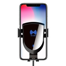 10W Car QI Wireless Charger Smart Automatic Clamping Infrared Sensor Air Vent Mount Fast Charging Phone Holder