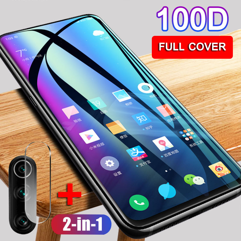 2 In 1 Camera Lens Tempered Glass For Xiaomi Mi 9 Lite 9T 9Pro Screen Protector On The For Xiaomi A2 A3 Lite CC9 Protective Film
