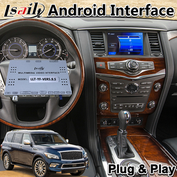 Android Multimedia Video Interface for Infiniti QX80 / QX60 / QX56 / Q70 2014-2017 year , Car GPS Navigation 3GB RAM T7 CPU image