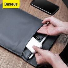 Baseusラップトップスリーブバッグケースmacbook airはproの 13 14 15 16 超薄型二層コンピュータライナーデル、レノボ