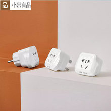 Youpin AIGO อะแดปเตอร์ Universal Travel Power Adapter Outlet 15A/13A/10A 250V UK/US/EU/DE UNIVERSAL ปลั๊ก SOCKET Converter(China)