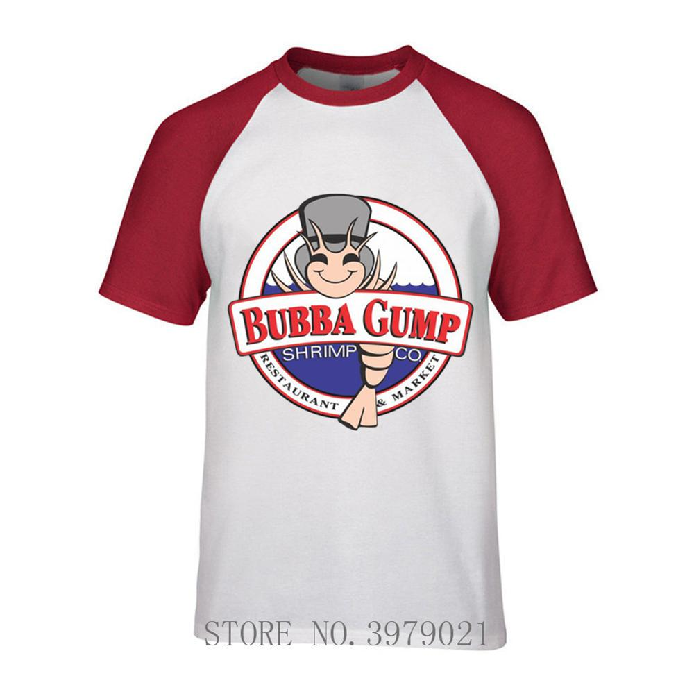 Funny BUBBA GUMP SHRIMP T SHIRT FOREST GUMP TOM HANKS FILM MOVIE Summer Tops Tees T Shirt image