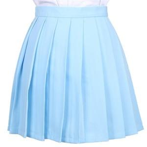 Image 2 - יפני קפלים Cos Macarons גבוהה מותן חצאית נשים של חצאיות גבירותיי Kawaii נשי קוריאני Harajuku בגדים לנשים