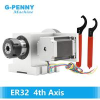 ER32 Chunk 4th Axis CNC dividing head Rotation 6:1 A Axis/ A axis kit for Mini CNC router wood working engraving machine