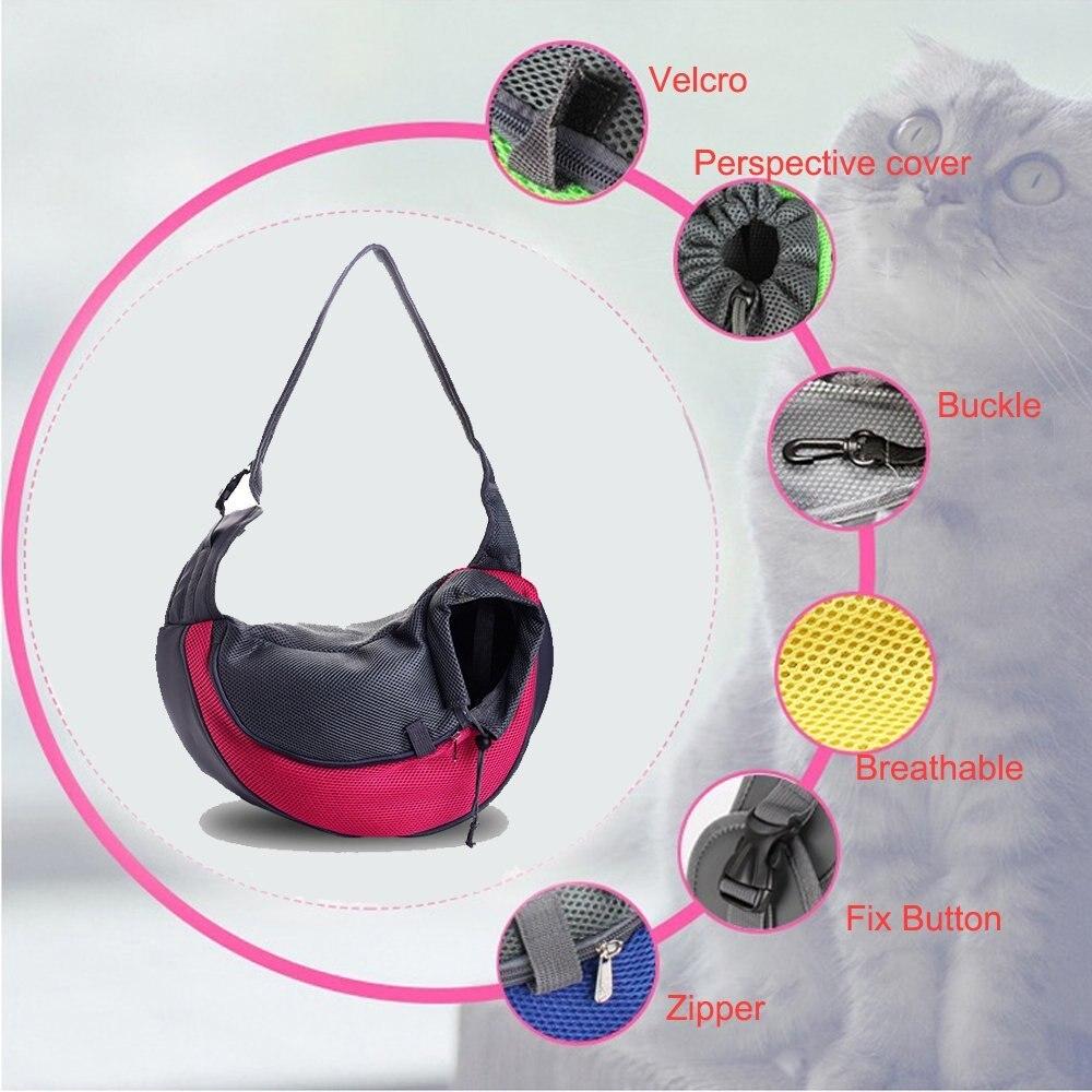 19 Pet Carrier Bag Puppy Dog Outdoor Travel Sling Shoulder Bag Comfortable Mesh Oxford Backpack Front Bags S/L 6