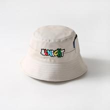 Embroidery Letter Fisherman Bucket Hat Women Men K Bob Hip Hop Cap Gorros Cotton Flat Cap Man Bucket Flat Hat Autumn