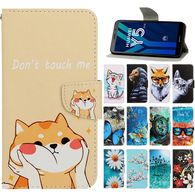 Y5 lite <font><b>2018</b></font> Leather <font><b>Case</b></font> on <font><b>For</b></font> Coque <font><b>Huawei</b></font> Y5 Lite <font><b>2018</b></font> <font><b>Case</b></font> <font><b>Huawei</b></font> <font><b>Y</b></font> <font><b>5</b></font> Y5 Lite <font><b>2018</b></font> DRA-LX5 <font><b>Cover</b></font> Magnetic <font><b>Flip</b></font> Wallet <font><b>Cases</b></font> image